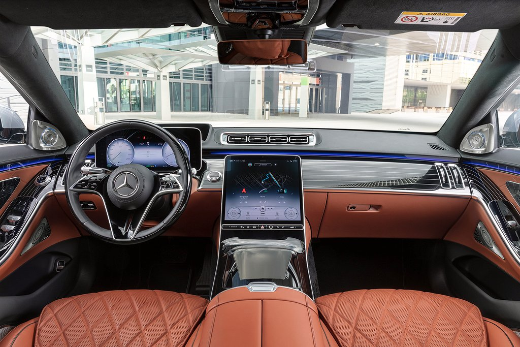 Mercedes-Benz S-Klasse, 2020, Outdoor, Interieur: Leder Nappa Sienabraun // Mercedes-Benz S-Class, 2020, outdoor, interior: leather siena brown