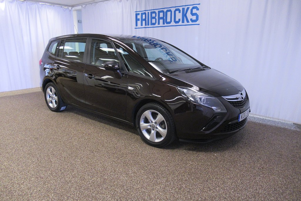 Opel Zafira Tourer 1.4 Turbo Enjoy 7-sits 140hk. Årsskatt 1394:-