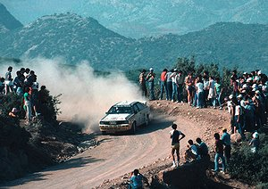 Drifting - Stig Blomqvist at the Acropolis Rally. The Swede crossed the line in third place.