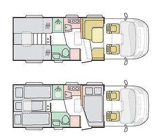 Husbil-halvintegrerad Adria Matrix Plus 670 SL 2 av 2