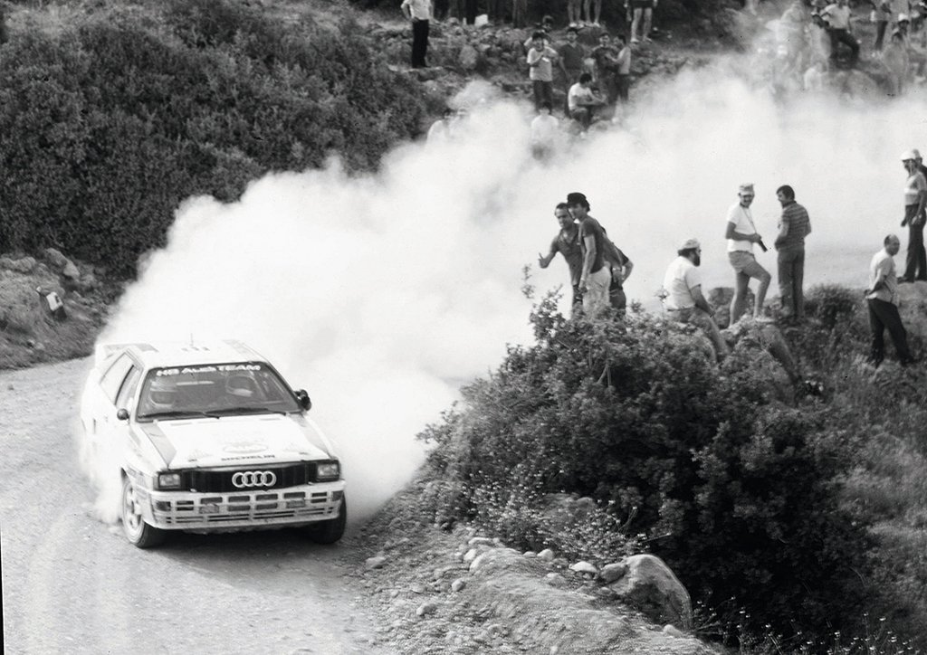 Motorsport – Stig Blomqvist on his way to victory at the 1984 Rallye Acropolis