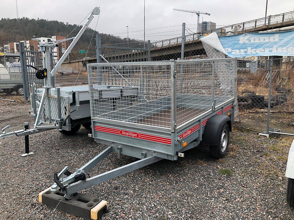 Sävsjösläpet 750kg EU vagn med galler