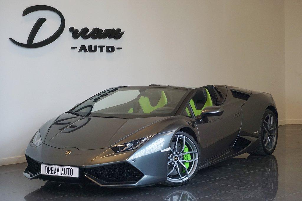 Lamborghini Huracán LP 610-4 SPYDER 700MIL FRÅN 10000KR