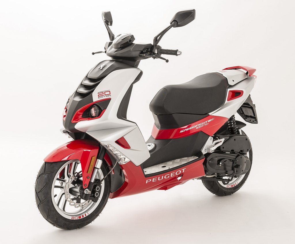 Peugeot Speedfight 20-ans Flat red