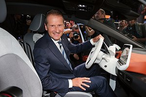 Volkswagen CEO Herbert Diess at the Volkswagen Group Night with the the new Volkswagen ID.3. Photo by Gisela Schober/Getty Images for Volkswagen AG