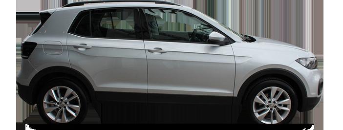 Modellbild av en Volkswagen T-Cross