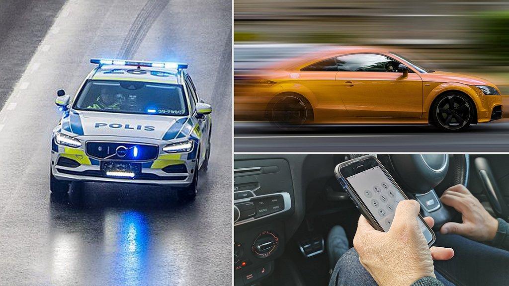 Polisen har nu börjat bötfälla fler svenskar för trafikbrott.