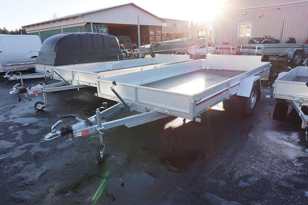 BK PL 1338 XL 380x196x27 1300kg Släpvagn
