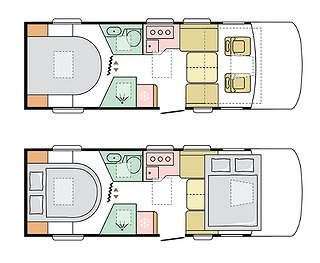 Husbil-integrerad Adria Sonic Plus 700 DC 2 av 3