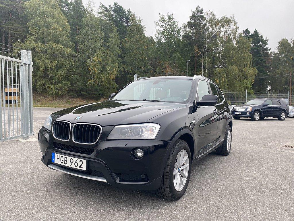 BMW X3 xDrive20d 184hk AUT Navi Skinn Backkamera Toppskick