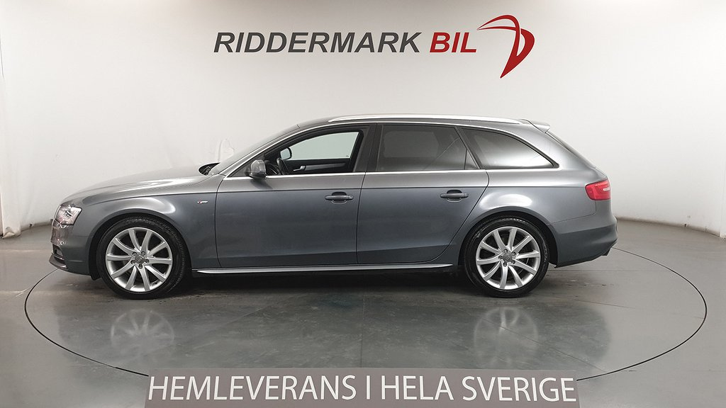 Audi A4 2.0 TDI 190hk S-line Nyservad Skinn/Alcantara Eu6
