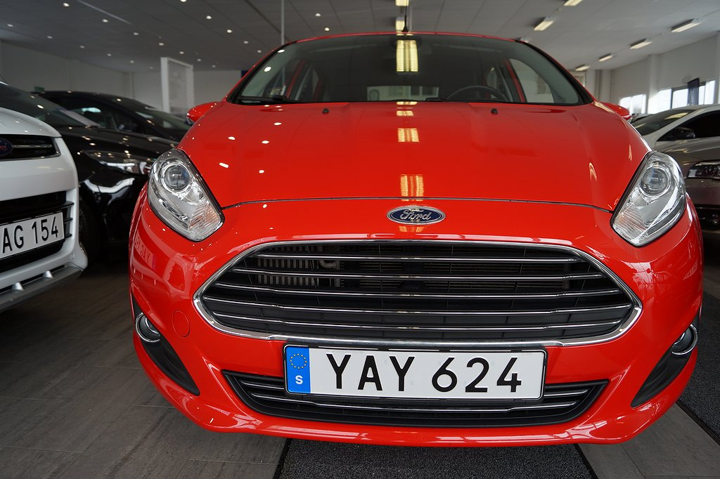 Ford Fiesta 1.0T EcoBoost 100hk Titanium 5D *Årsskatt 360kr*