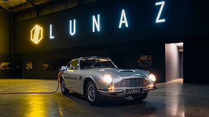 Lunaz har konverterat en Aston Martin DB6. Foto: Lunaz Design.