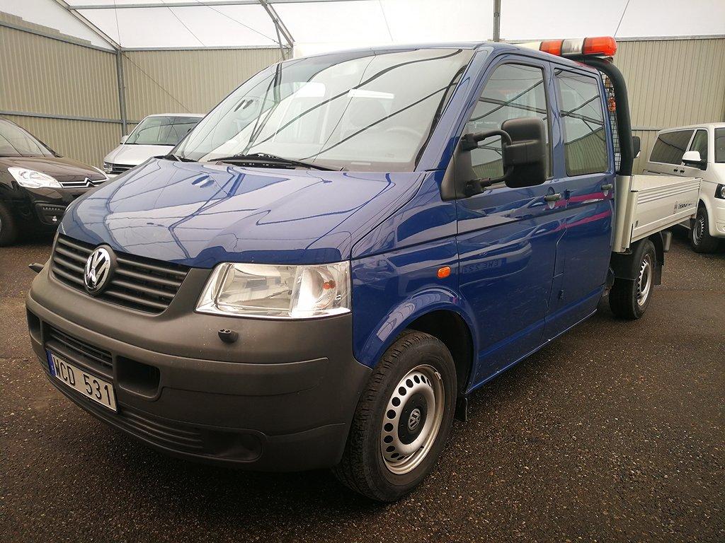Volkswagen Transporter DH FLAK + KRAN 6-SITS 2.5 TDI