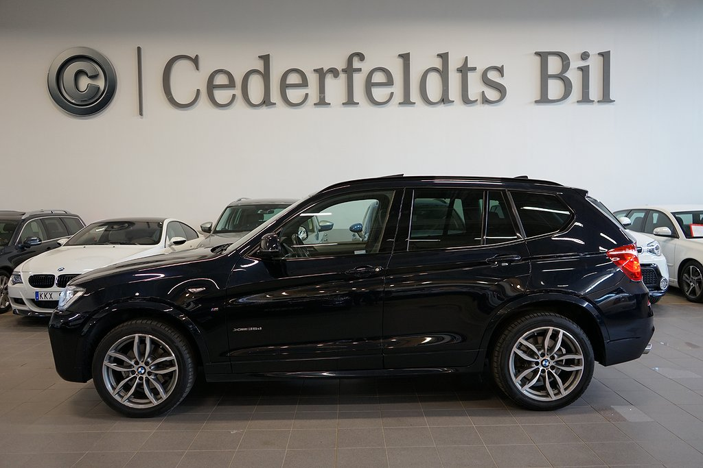 BMW X3 xDrive35d 313hk M-Sport Panorama HuD GPS Drag Värmare