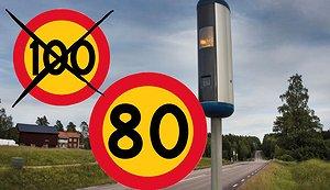 Här sänks farten till 80 km/h - hela listan