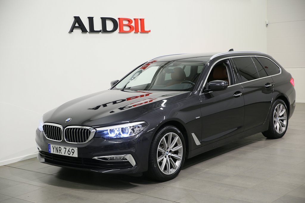 BMW 520 d 190hk EU6 Luxury Line Aut (Nav, Harman/Kardon, Drag)