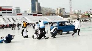 Curling med bilar en bra sport