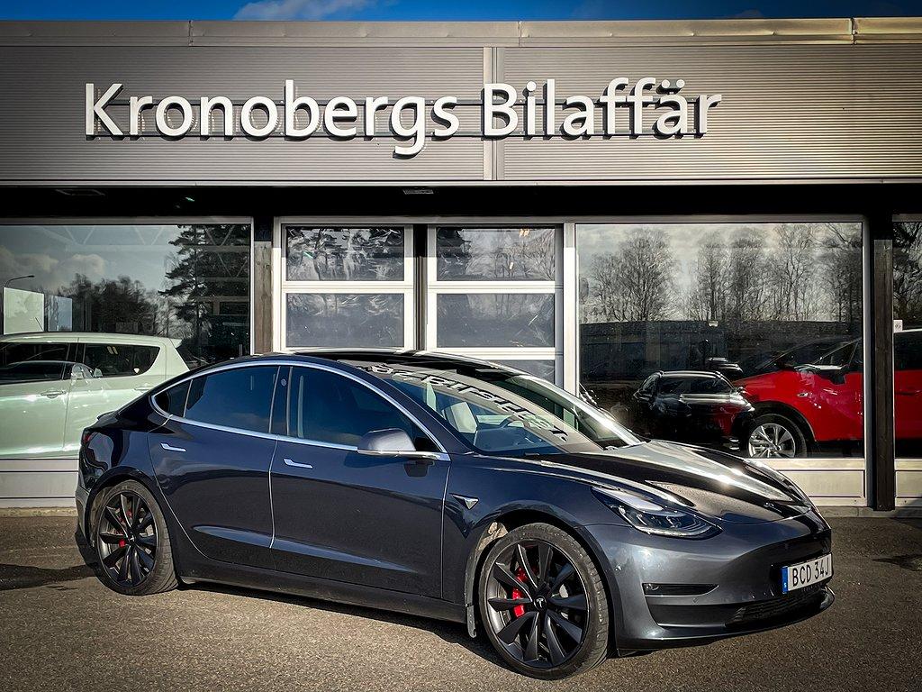 Tesla Model 3 Performance 460hk Autopilot 4WD