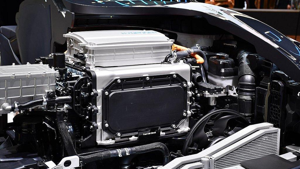 Motorn på vätgasbilen Hyundai NEXO