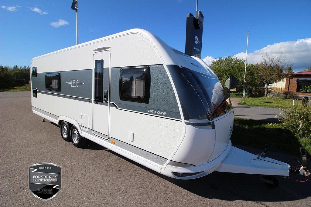 Hobby 650 KFU De Luxe / Våningssäng / ALDE / Golvvärme / Gasolugn