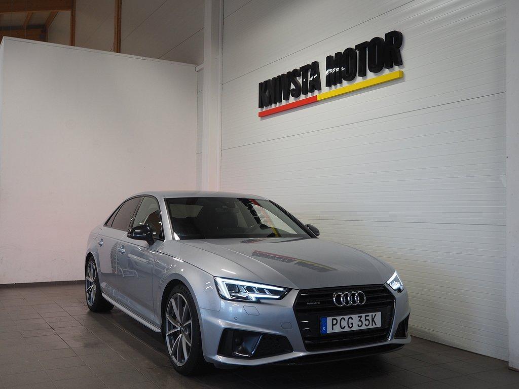 Audi A4 40 TDI Quattro 190hk S-Line / D-värm / Drag / Matrix 2019