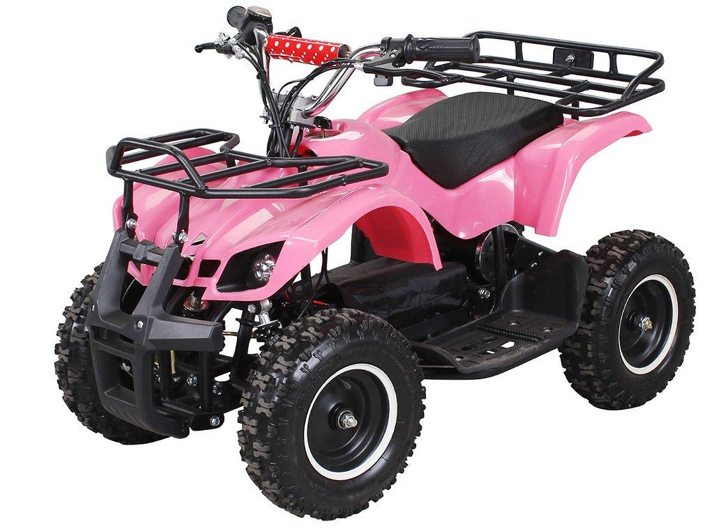 ATV BARNFYRHJULING EL MED LASTGALLER, 800W, rosa