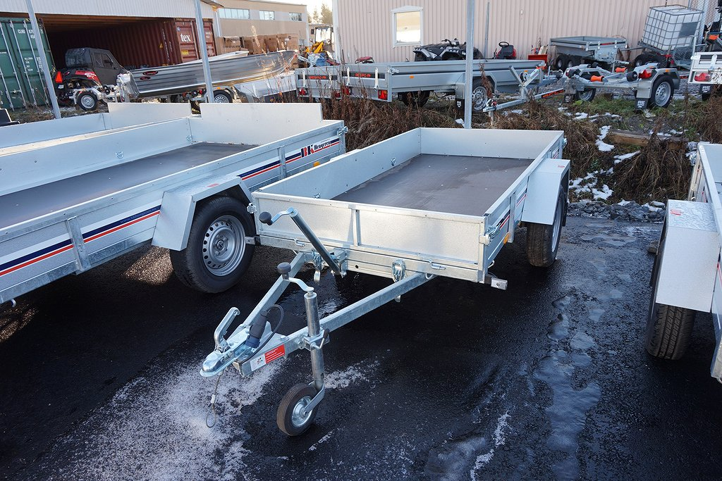 BK PL 0725T Släpvagn 750kg 239x127x25cm 80km