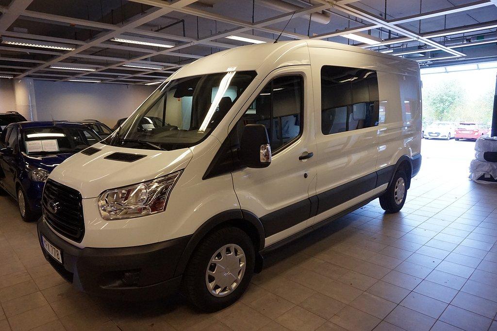 Ford Transit 2.0TDCI 170Hk Aut 350 L3 Dubbelhytt / Siktpaket Prem