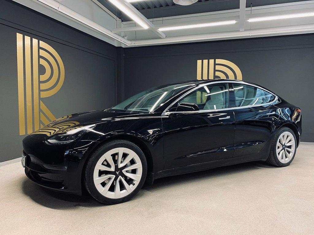 "Tesla Model 3 Long Range AWD FSD Panorma 19"" 431hk"