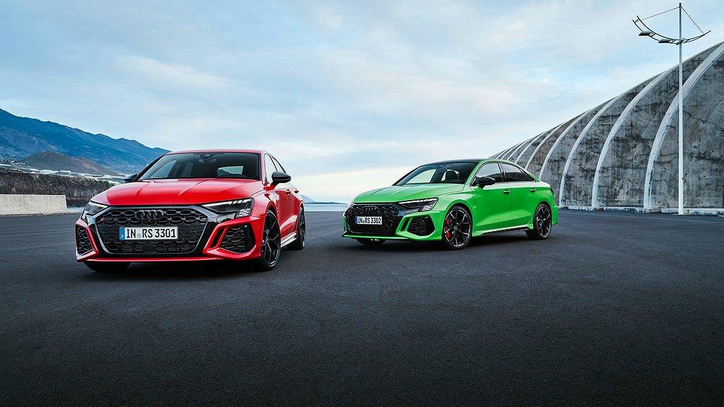 Nya Audi RS 3 Sportback och Audi RS 3 Sedan. Foto