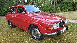 Den här Saab 95 har bara rullat 840 mil. Foto: Bilweb auctions.