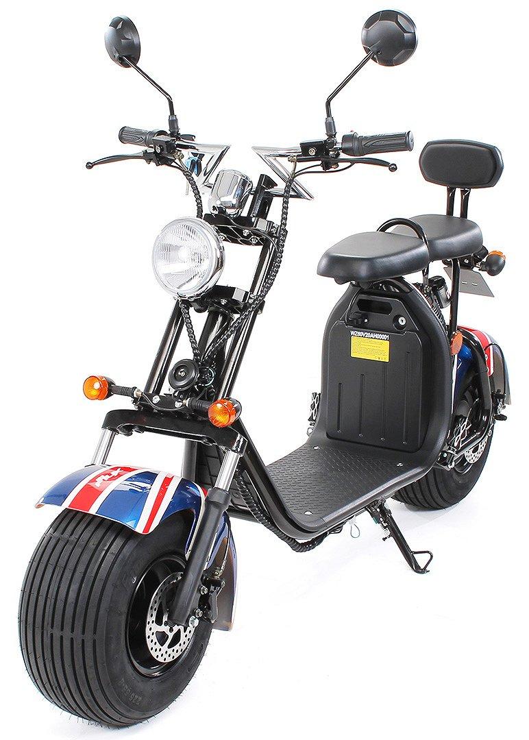 Övrigt EL-Scooter El-moped 1500W Harley vägreg för 2