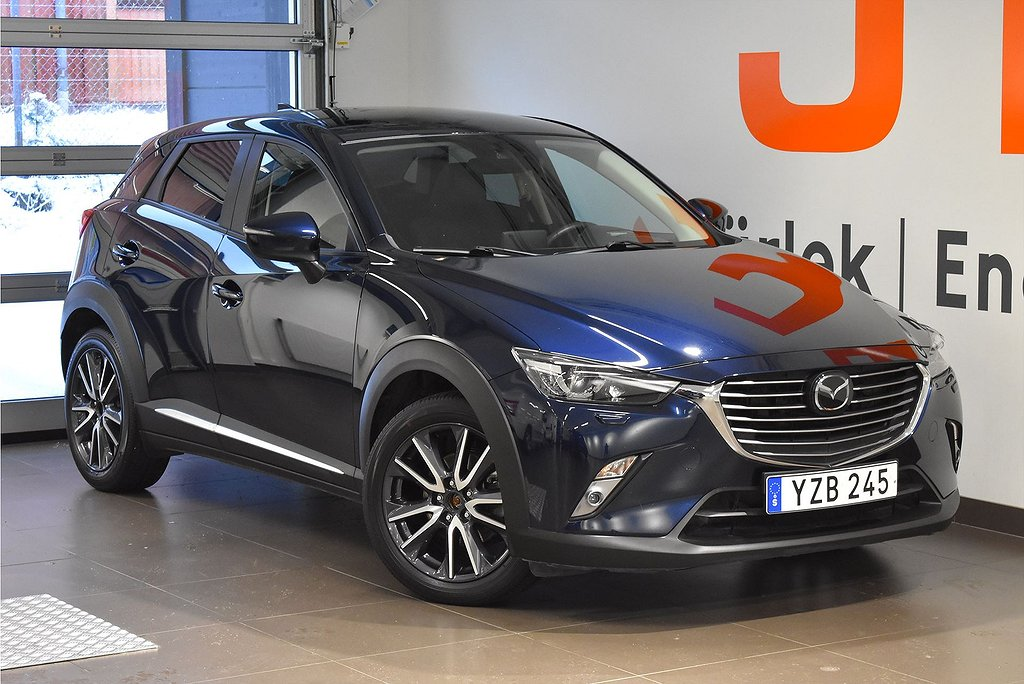 Mazda CX-3 Optimum 2.0 120hk - BOSE. Rattvärme. Backkamera