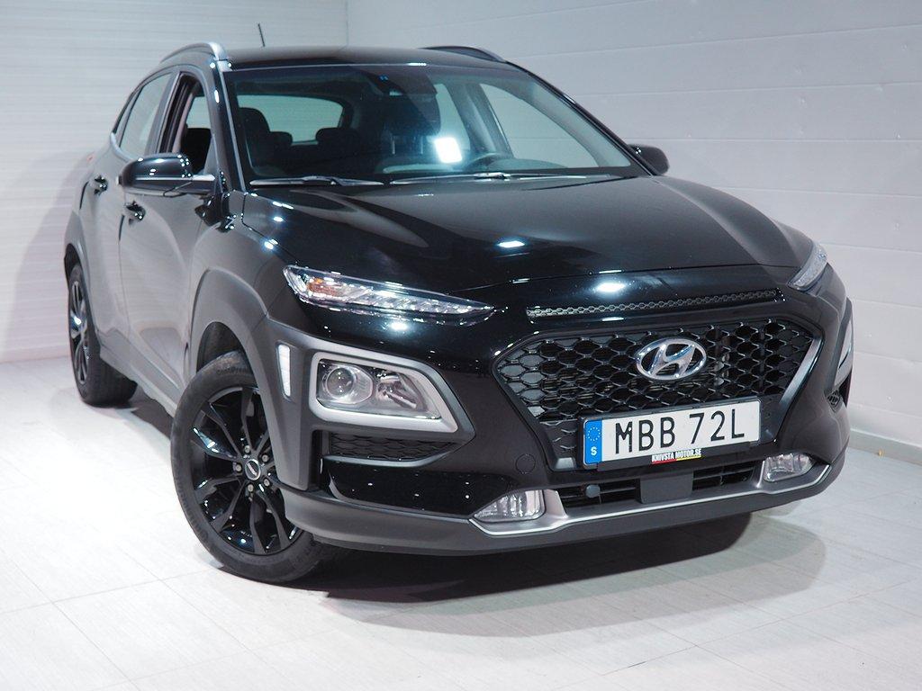 Hyundai Kona 1.0 T-GDI blue 120hk Motorvärmare Backkamera 2019