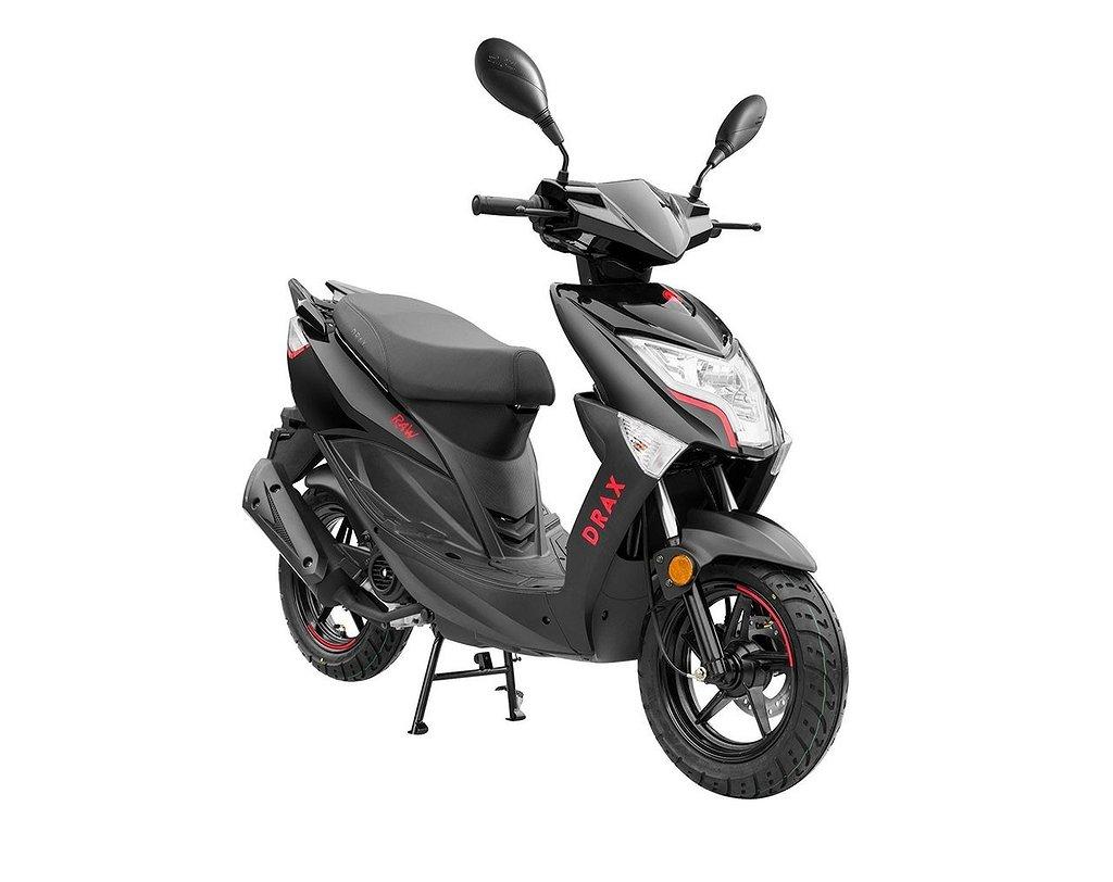 Drax Raw Eu45 Klass1 Moped Svart SÅLD ___________________