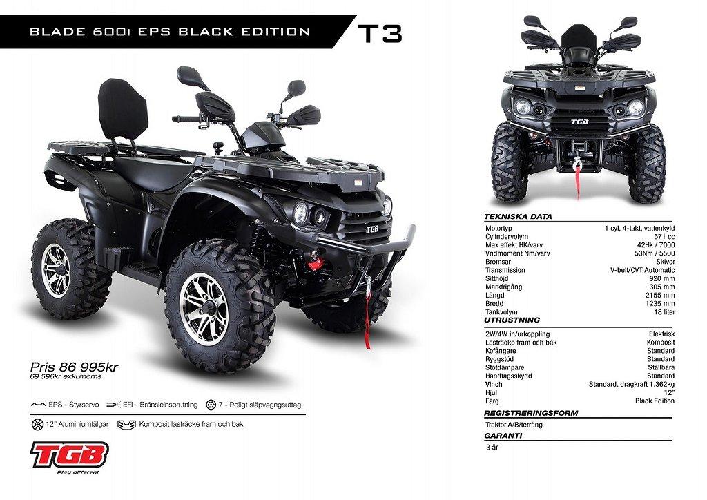 TGB Blade 600i EPS Black Edition T3 / LT Edition