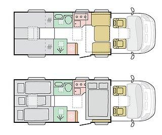 Husbil-halvintegrerad Adria Matrix Plus 670 DL 3 av 3