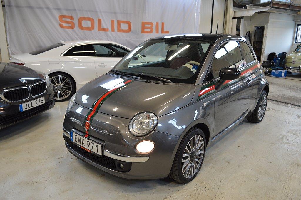 Fiat 500 1.2 Lounge Aut/Läder/Panorama/Vinterdäck