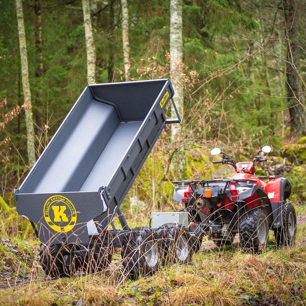 Goes Tippvagn ATV 1420 kg med elhydraulisk tipp
