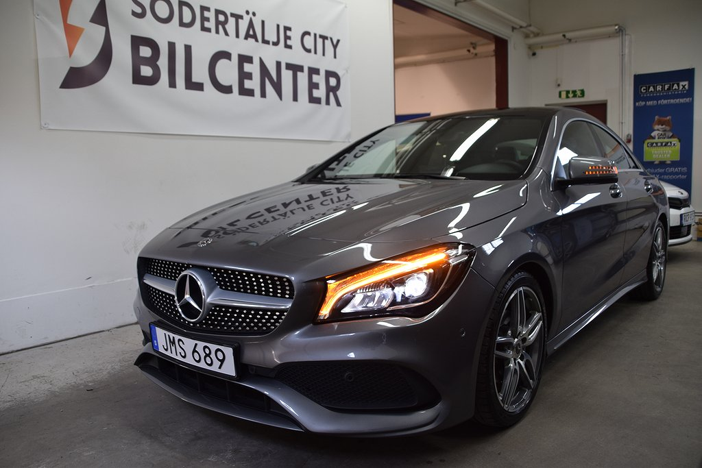Mercedes-Benz CLA 200 7G-DCT AMG Sport Panorama Euro 6 156HK/SVENSKSÅLD