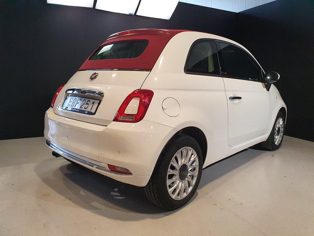 Fiat 500C 1.2 Lounge Cabriolet / V-hjul