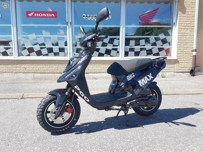 PGO BigMax Cykelbana moped Eu25 svart 2-takt *1125