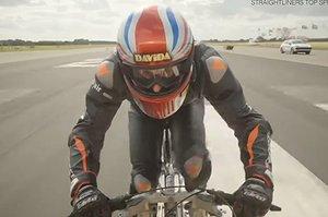 Galna rekordet: Här cyklar han i 281 km/h