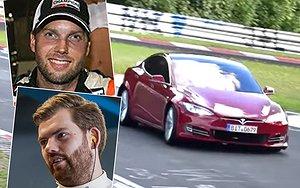 """""""Tesla krossade Porsches rekord på träning"""""""