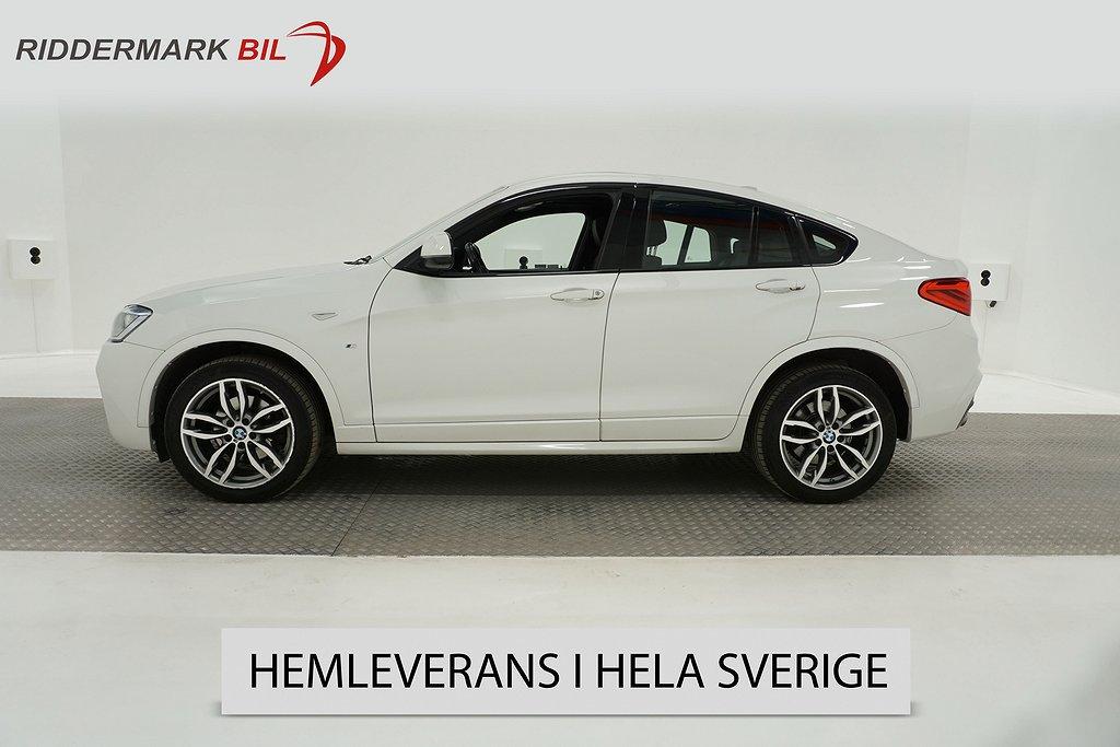 BMW X4 xDrive20d 190hk M-sport Navi Taklucka H/K 360° Skinn