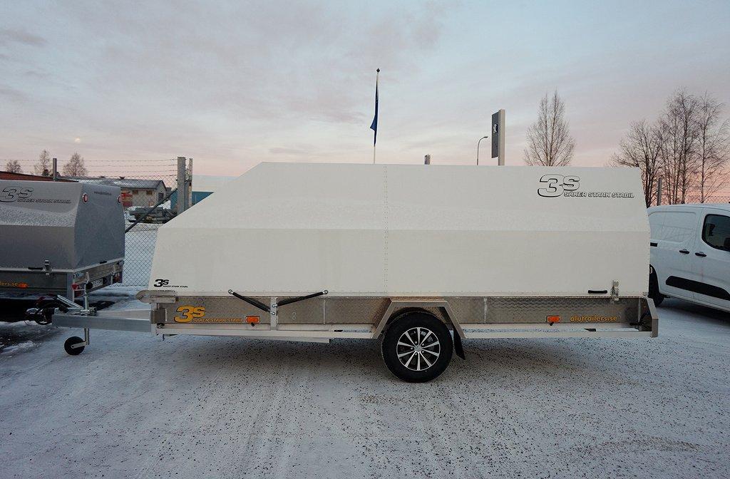 3S Alutrailers E450 x 182cm Entreprenad Vit Kåpa