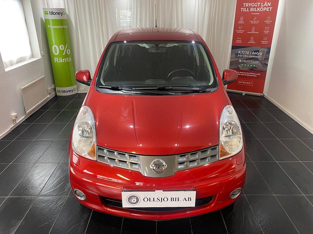 Nissan Note 1.4 88hk Nybesiktigad/Lågmil
