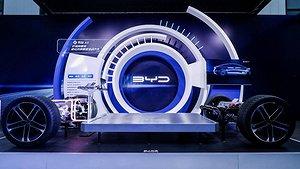 Den nya elbilsplattformen E-platform 3.0. Foto: Byd.