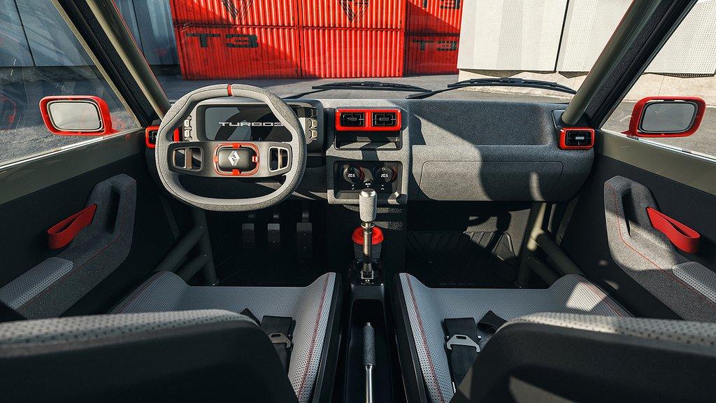 Interiören på Renault 5 Turbo 3